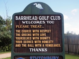 Local rules at Barrhead Golf Course.