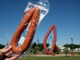See the resemblance? We bought the famous Mundare sausage at the Whitetail Crossing Golf Club. (The Stawnichy's location in Mundare is closed on Sundays.)