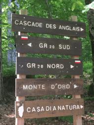 Cascade des Anglais sign