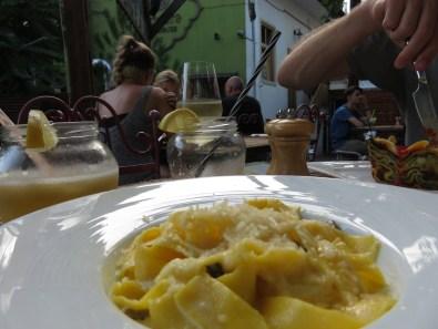 My favourite: tagliatelle with boletus mushrooms, cream and parmesan