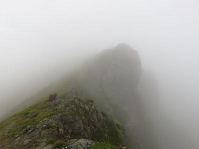 romania fagaras ridge fog