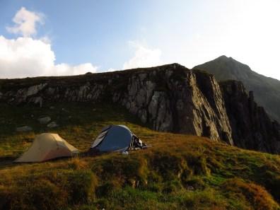 Camping below Vistea Mare Peak
