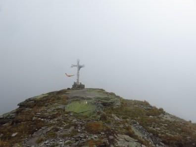 Zero visibility on top of Pietrosul Calimani