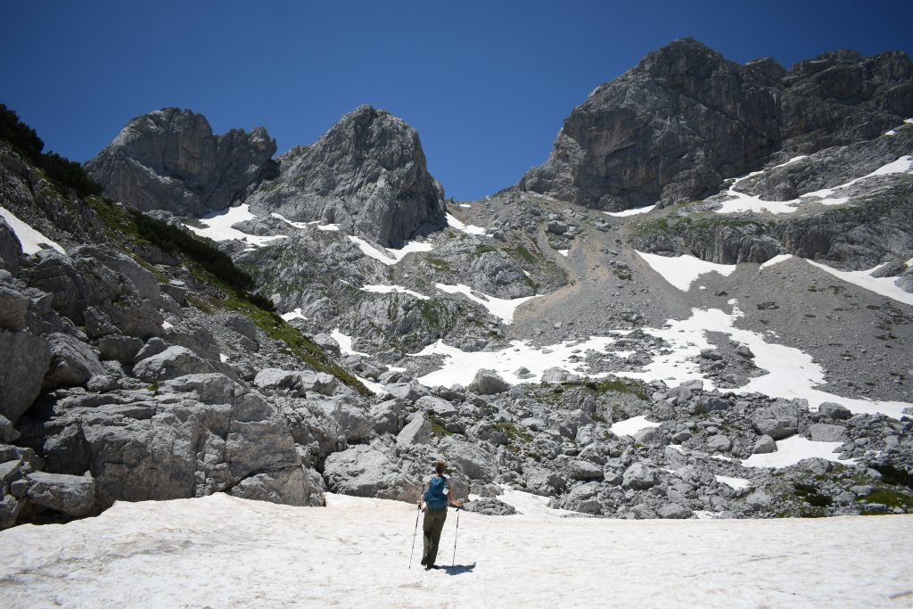 durmitor montenegro snow field