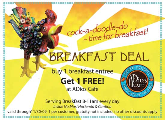 Hill Street Cafe Coupon