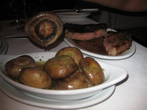 Ruth\'s Chris Ribeye and mushrooms