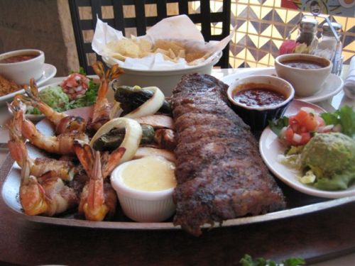 Uncle Julio\'s Shrimp, Fajitas, and Pork Ribs