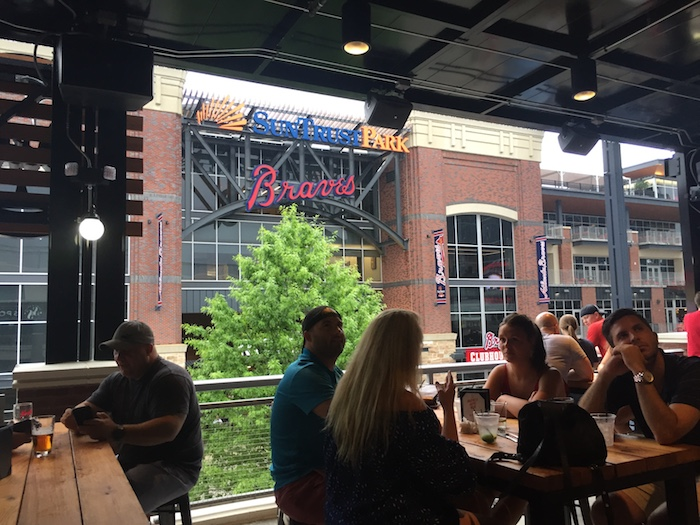where to dine at the Battery Atlanta