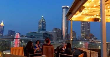 Sky Lounge atlanta downtown rooftop bar
