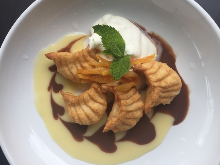 CO Atlanta fried dumpling cheesecake dessert