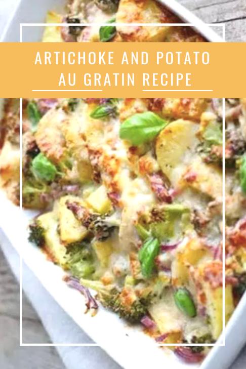 Artichoke and Potato Au Gratin