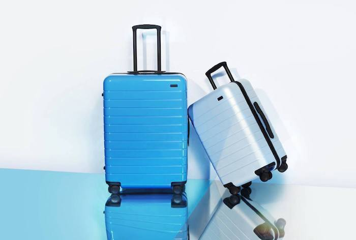 suitcase with built in charger battery