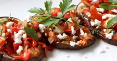 Roasted Eggplant Tomato Feta