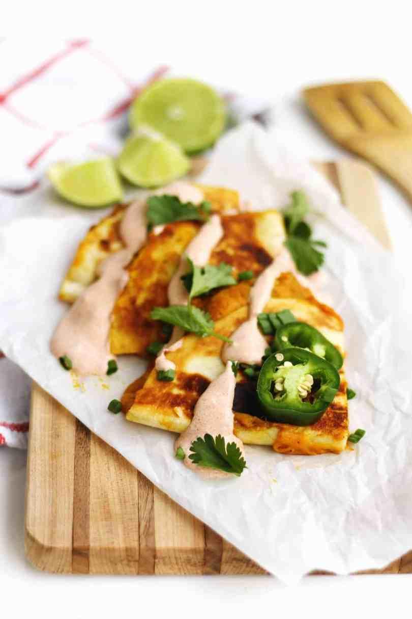 Cheesy Pumpkin Quesadillas-Recipe