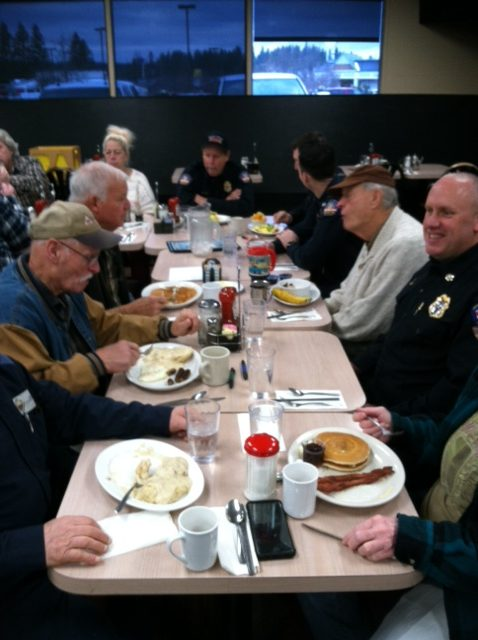 Friday morning breakfast - The club honors first responders throughout the year.