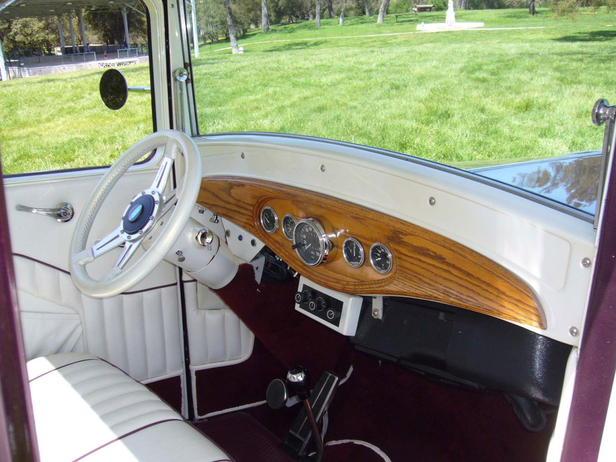 1921 Ford pickup interior - Dusty S.