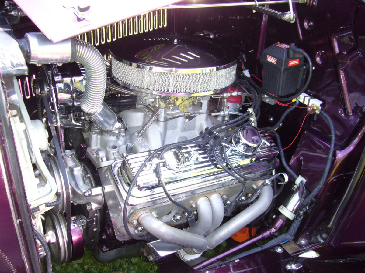 1932 Ford pickup engine - Dusty S.
