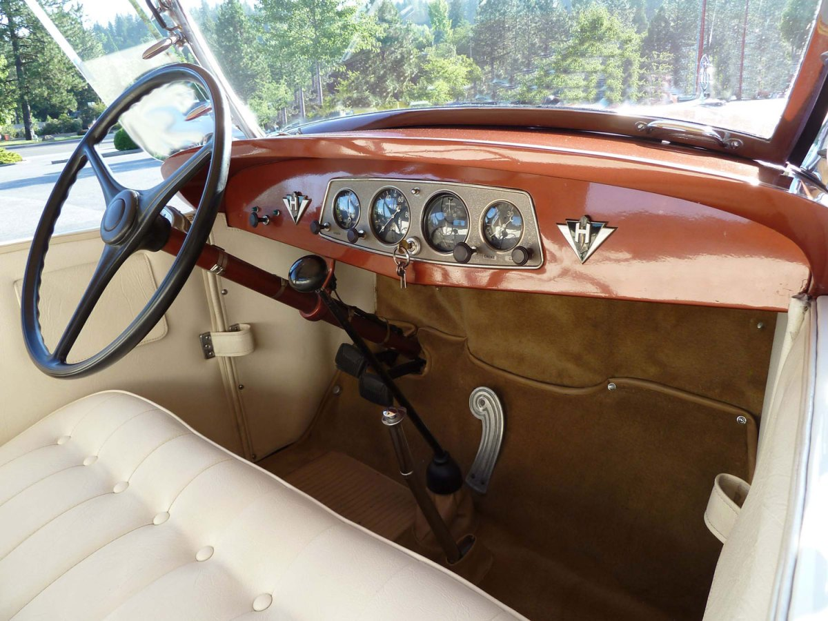 1932 Hupmobile Roadster-interior- Joe W.