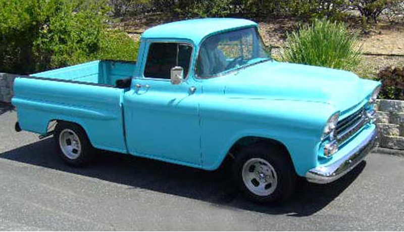 1958 Chevy 3100 pickup Apache Mary & Terry C.