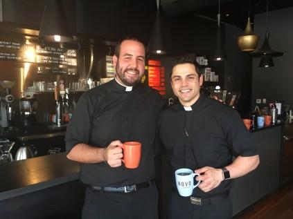Clerics & Coffee with my good friend, Deacon Frankie!