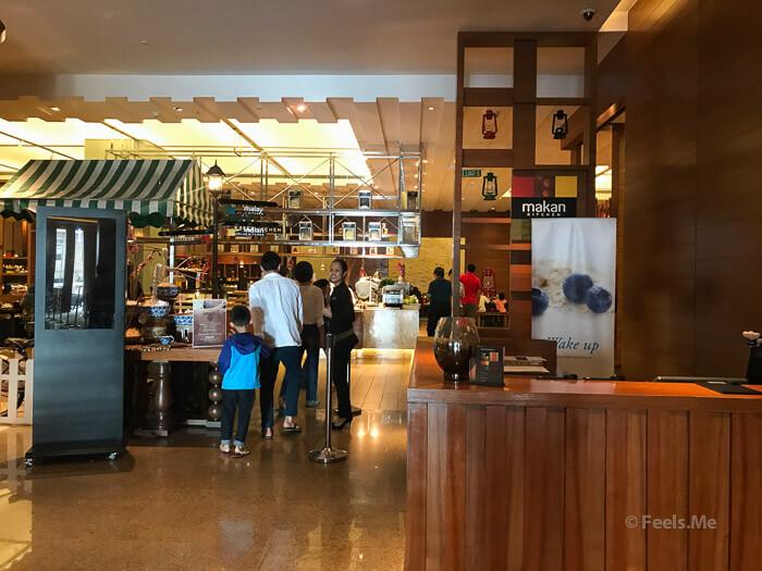 DoubleTree JB Makan Kitchen Buffet Breakfast Entrance