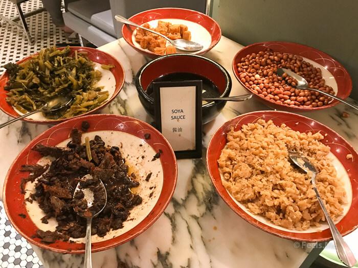 Hilton Petaling Jaya KL Congee toppings