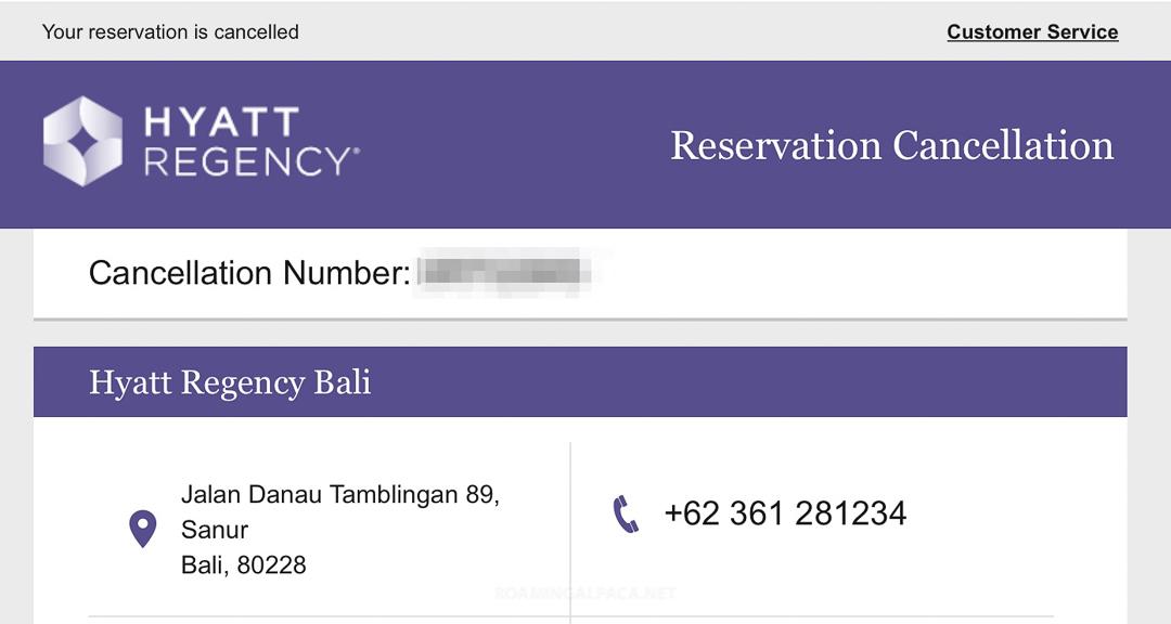 Hyatt Regency Bali Cancellation Dec 2018 003