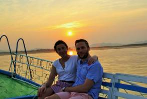 me and chris sunset