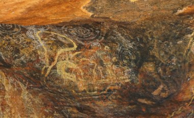 Rock art near Mutitjulu Waterhole