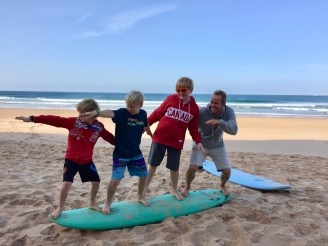 Ollie with the Boys