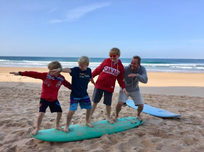 Ollie with the Boys