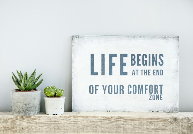 LIFE BEGINS AT THE END OF COMFORT ZONE....don't let terrorism win