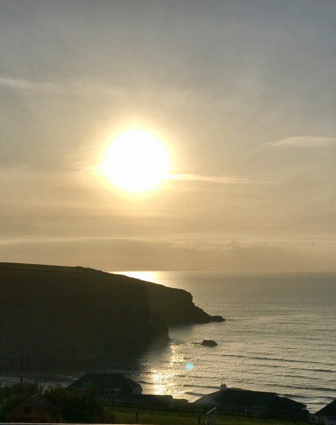 Sunset over Mawgan Porth