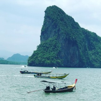 Longs boats in Phang Nga Bay