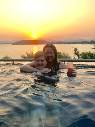 watching the sunset over Phuket with my biggest dude