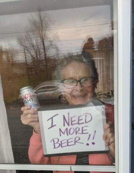 93 year old woman pleas for more beer