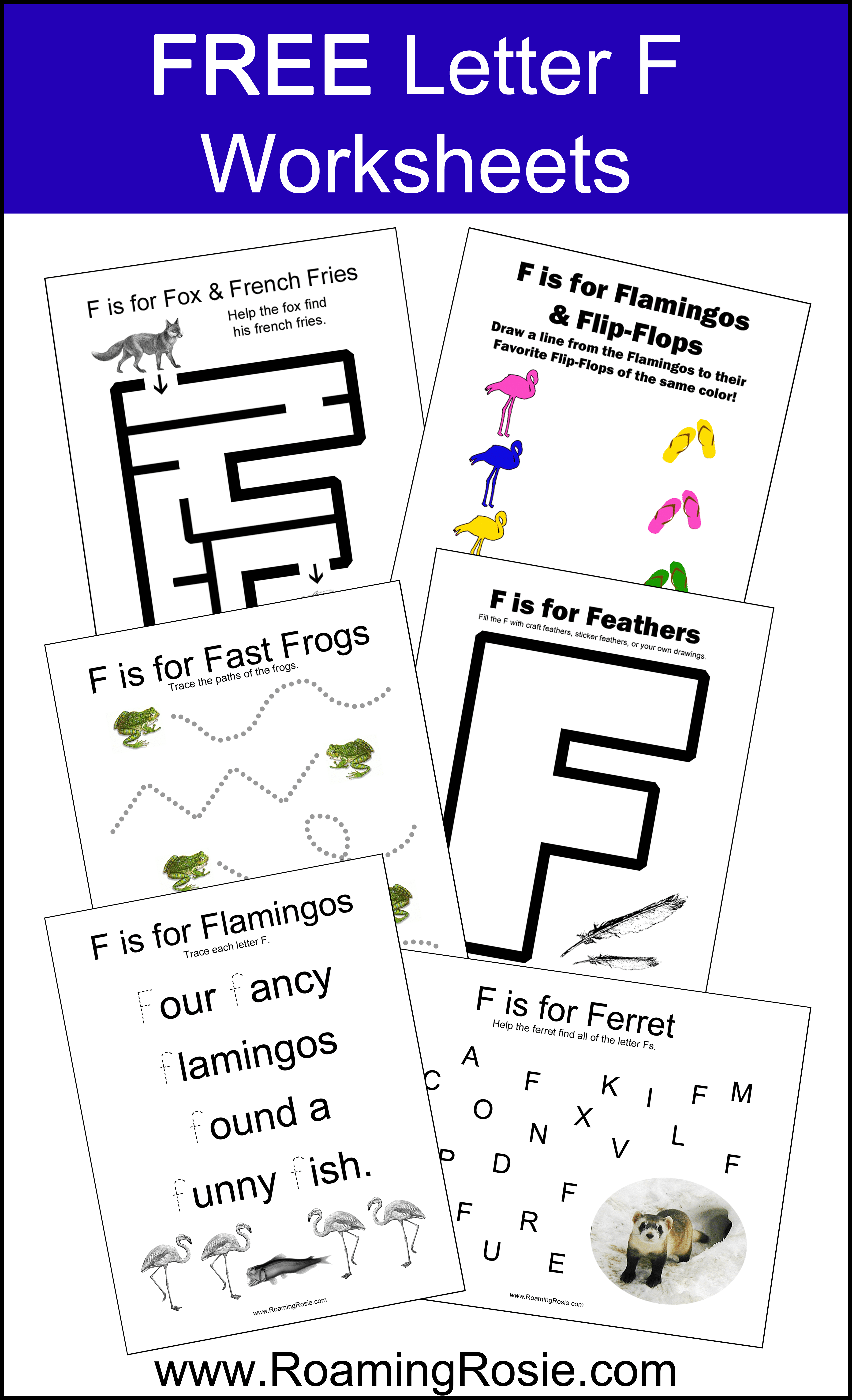 Letter F Free Alphabet Worksheets For Kids