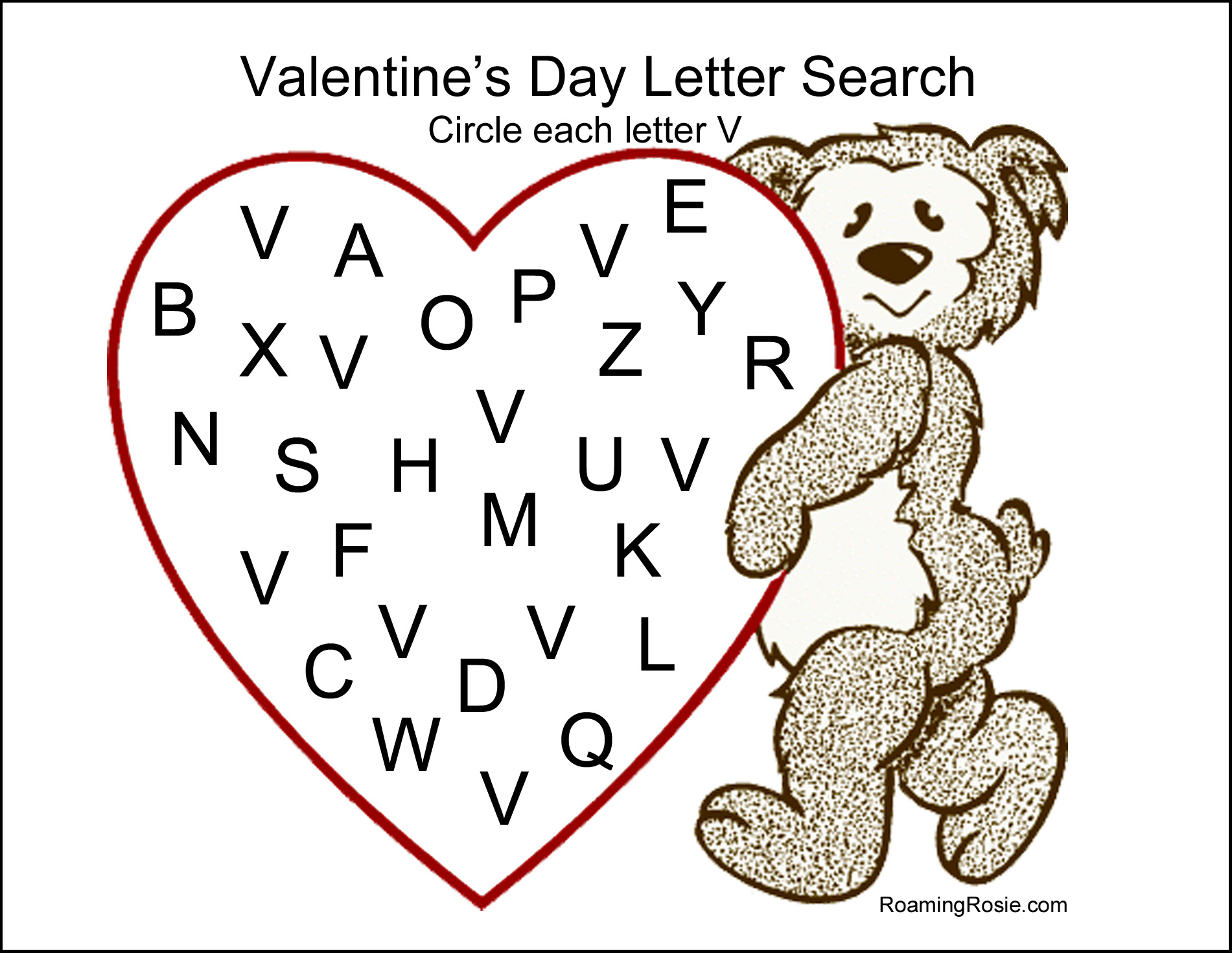 Valentine Letter Worksheet