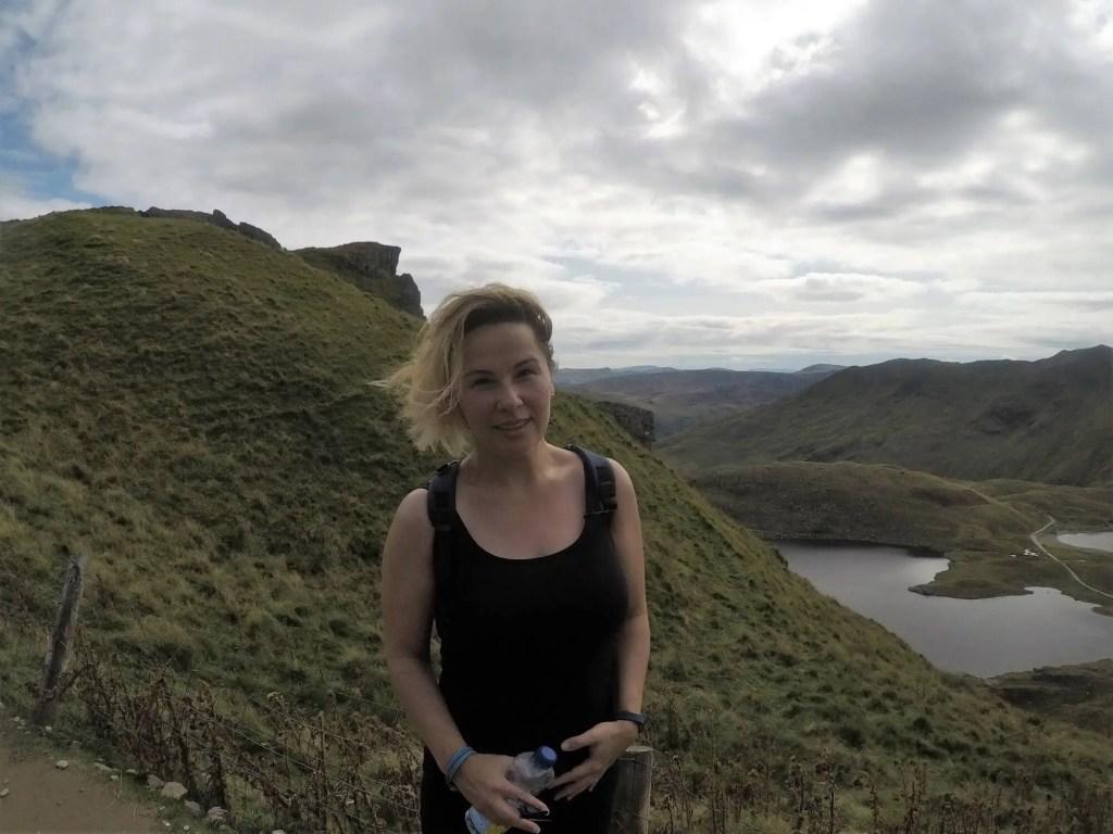 Didem Climbing Snowdon