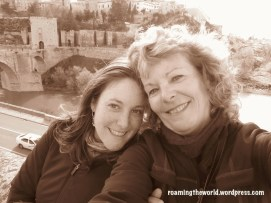 My mom and I, Toledo, Spain