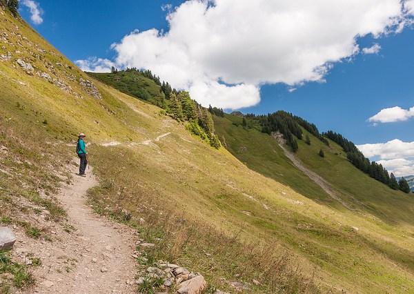 Hiking above Isenau