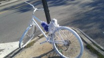 Sad White Bike Memorial