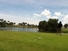 Golfing at Manatee Cove at Patrick AFB.