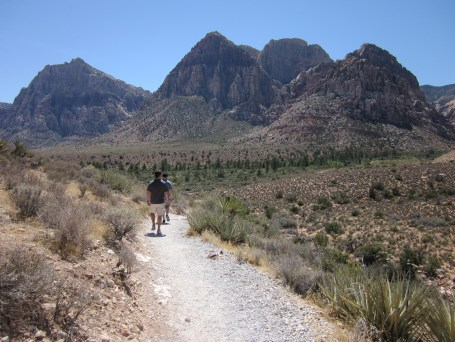 Hiking in Red Rock Canyon.