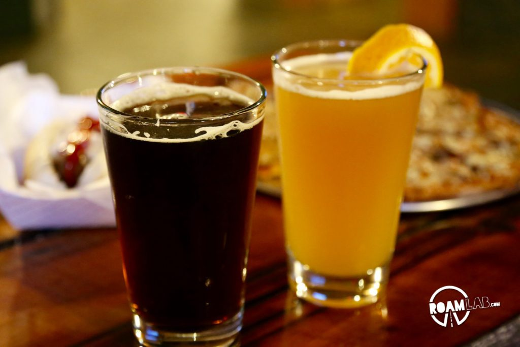 After a superb flight of beers, we settled on the Lewis & Clark Barrel Aged Weizenbock and Miner's Gold.
