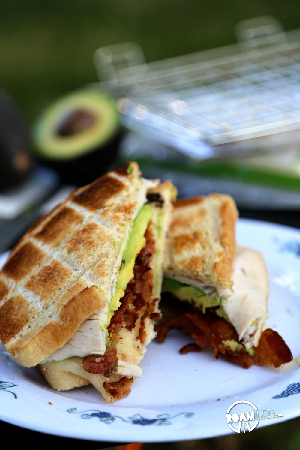 Enjoy a crispy explosion of flavor at your next camping trip with the Camper's Club Sandwich.