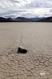 The road to the Racetrack Playa in Death Valley National Park is one long, brutal washboard past volcanic craters, Joshua Trees, and teakettles to a dry lakebed punctuated by a grandstand rock formation and sailing stones.