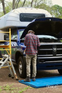 We step into the roll of DIY automotive mechanics as we remove the grill on our 2015 Ram 3500 Tradesman truck to expose the front bumper.