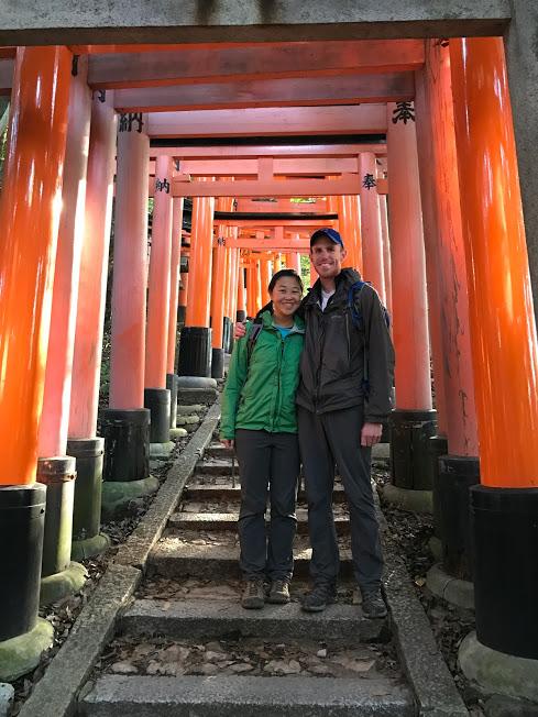 Arriving at the shrine