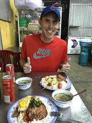 Matt eating like a king.